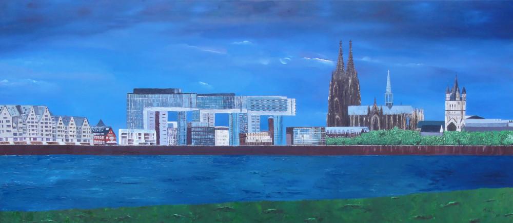 Grußkarte Köln Panorama