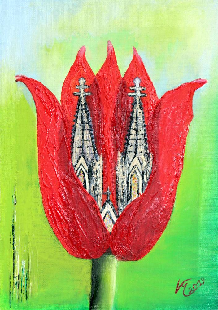 Grußkarte Tulpe